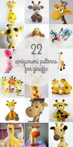 Amigurumi Patterns For Giraffe