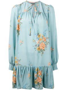 ALEXANDER MCQUEEN Floral Dress. #alexandermcqueen #cloth #dress