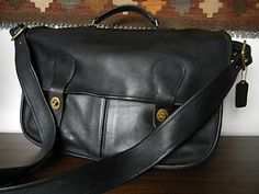 Rare vintage Coach Musette/ Carrier Field Bag (Made in NYC).  Available in our eBay shop.