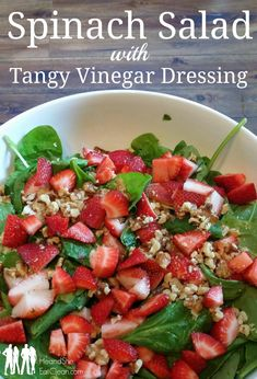 He and She Eat Clean: Spinach Salad with Tangy Vinegar Dressing