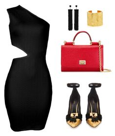 """""""Inighi Cut-Out Dress"""" by eme-bassey on Polyvore featuring Dolce&Gabbana, Balmain and Tom Ford"""