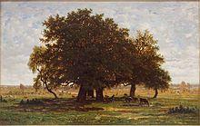 Roble, por Rousseau, 1855.