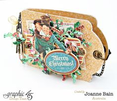 A Christmas Carol gift card holder by Joanne - click to see tutorial! #graphic45