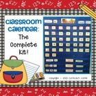 Complete classroom calendar set...perfect for a pocket chart. Just print, cut, and go! $