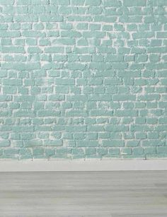 5fe5453d8f4 Medium Turquoise Brick Wall With Wood Floor Backdrop photography for kids.
