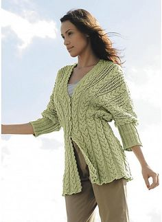 Ravelry: 03 - Veste manches 3/4 pattern by Bergère de France  Free pattern Go to; pinterest.com/... for  2500 and more FREE knit patterns
