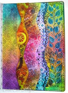 FRIENDS in ART: Dylusional Journal Pages Linda Cain does it again ~ love this!