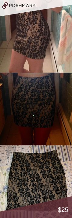 Forever21 Skirt NWOT Forever21 Skirt NWOT. Black and Tan. Size Small. Perfect condition(: Forever 21 Skirts
