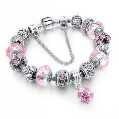 Love Crystal Charm Bracelets & Bangles