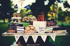 Smart cookie Graduation Party | Loving this table featured at Celebrations At Home ; I love the book ...