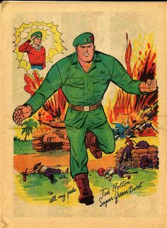 Pin-up from Super Green Beret #1 by Carl Pfeufer! Lightning Comics Comic written by Otto Binder!