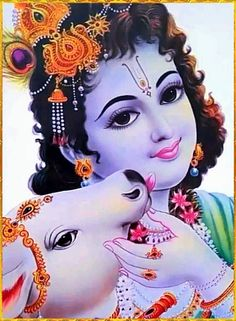 """☀ SHRI KRISHNA GOVINDA ॐ ☀ """"When people properly glorify the Supreme Personality of Godhead or simply hear about His power, the Lord personally enters their hearts and cleanses away every trace of misfortune, just as the sun removes the darkness or. Krishna Hindu, Krishna Leela, Jai Shree Krishna, Cute Krishna, Radha Krishna Photo, Krishna Radha, Krishna Songs, Krishna Quotes, Shree Krishna Wallpapers"""