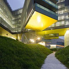 Steven Holl Architects. Vanke Center. Shenzhen, China, 2006-2009. AKA 'the Horizontal Skyscraper'