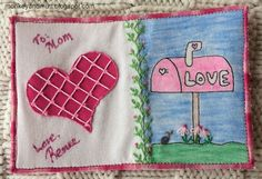 Fabric Postcard Valentine - information on coloring fabric.
