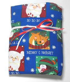 Christmas Toddler or Crib Bedding Fitted Sheet Santa by KidsSheets, $24.00