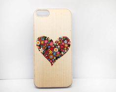 iphone 5c case,Wood iphone 5s case, iphone 5 cover, Heart, Natural Wood case,Real wooden case, iphone5 Wood case, iphone5 case 4s 4 5c case on Etsy, £7.40