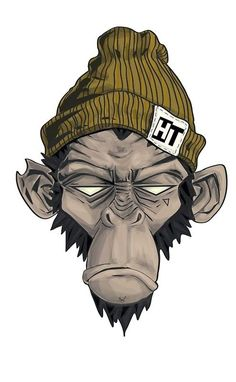 & # Head threads & # Monkey illustration by Jessie Orgee - Grafiti. Graffiti Art, Cartoon Kunst, Cartoon Art, Zombie Cartoon, Art Sketches, Art Drawings, Monkey Illustration, Monkey Art, Monkey Drawing