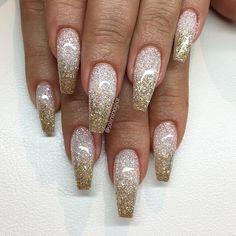 Glitterombre i Diamond och guld