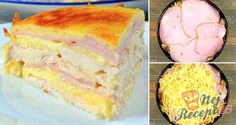 Hearty chicken pie with ham and cheese Patty Melt Recipe, Meatloaf Muffins, Ham And Cheese, Vanilla Cake, My Recipes, Main Dishes, Food And Drink, Snacks, Nutella