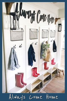 Entryway Ideas and Boot Room Ideas! Functional entryway storage ideas in farmhou. Entryway Ideas and Boot Room Ideas! Functional entryway storage ideas in farmhouse style for your f Boot Room, Easy Home Decor, Home Improvement Projects, Home Improvement, Getting Organized At Home, Diy Home Improvement, Cheap Home Decor, Contemporary Home Decor, Entryway Storage