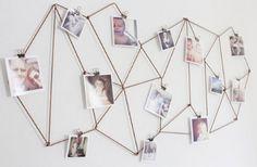 Woon(p)inspiratie: originele manieren om foto's op te hangen