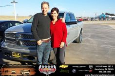We had a wonderful experience buying our new 2014 Dodge Ram truck at Four Stars. Tracey Frerich did a great job in helping us out and getting everything we needed on our truck. We would recommend Tracey and Four Stars to anyone wanting to buy a new vehicle. In fact this is our 4th vehicle purchase in a row from Four Stars.   Robert and Nala Chambers Wednesday, January 21, 2015
