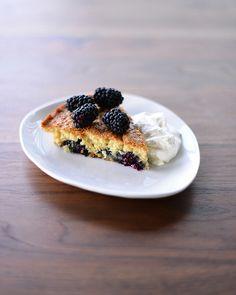 Buttermilk Cake with Blackberries #recipe #baking #dessert