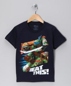 Take a look at this Navy TMNT 'Beat This' Tee - Kids by Teenage Mutant Ninja Turtles on #zulily today!