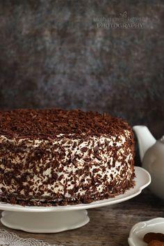 ...konyhán innen - kerten túl...: Fekete-erdő torta Cake Cookies, Tiramisu, Pudding, Ethnic Recipes, Minden, Food, Drink, Beverage, Custard Pudding