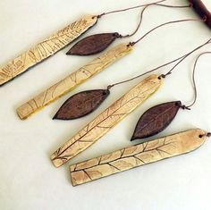 Anna/StudioByTheForest - Porcelain and Stoneware Botanical Chimes