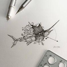 #GeometricBeasts   Sailfish