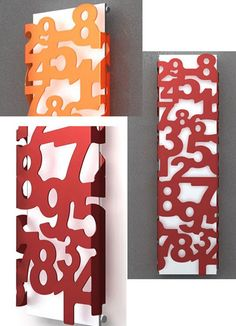 These vertical radiators covered in numbers are great for a school or kids room!