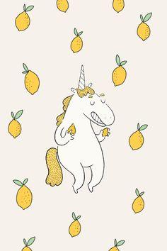 Free lemon wallpaper for iPhone Unicornios Wallpaper, Hipster Wallpaper, Wallpaper Backgrounds, Band Wallpapers, Simple Wallpapers, Cute Lockscreens, Whatsapp Wallpaper, Graphic Design Illustration, Cute Drawings