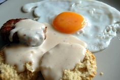 Creating a tasty dish with scratch made biscuits & sausage gravy is a breeze! http://accordingtobrian.com/biscuitsngravy