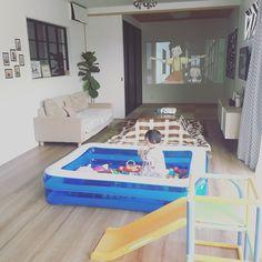 赤ちゃんのサークル(ベビーサークル)センスありで使えるおすすめ商品6選   LUV INTERIOR Safari, Baby Kids, Kids Room, Space, Children, Lemon, House, Interiors, Display