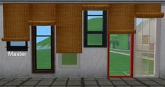 Mod The Sims - Outdoor Roll-Up Blinds