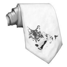 Black Wolf Tie