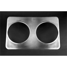 """Winco ADP-610 Adapter Plate, Two 6-3/8"""" and 10-3/8"""" Holes, Stainless Steel by Winco. $8.60. 12. Adapter Plate, two 6-3/8"""" and 10-3/8"""" holes, stainless steel,"""