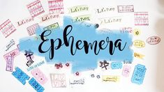 MM#16-  DIY EPHEMERA!!