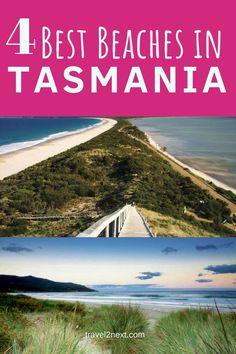 4 best beaches in Tasmania. Looking for a fabulous beach? In Tasmania beaches are wild and beautiful. #australia #tasmania #beaches #bayoffires #brunyislands #boatharbourbeach  #tasmanpeninsula