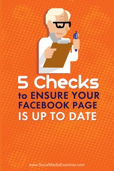 ensure your facebook page is up to date