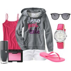 Pink and Gray, created by missyfer88 on Polyvore