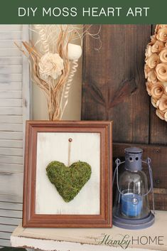 DIY Moss Heart Art