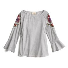 Stitch Fix Spring Stylist Picks: Embroidered bell sleeve top