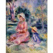 Oil Painting: Madame Renoir and Her Son Pierre: Pierre Auguste Renoir
