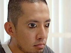 Eyelid tattoos are a thing, although we dont really understand how the needle doesnt poke through into a persons eyes.  Believe it or not, this man has his eyes closed. We wonder what it looks like when he blinks . . . sleeping next to this dude must be the creepiest experience imaginable.