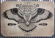 drawing by tattoo artist David Hale
