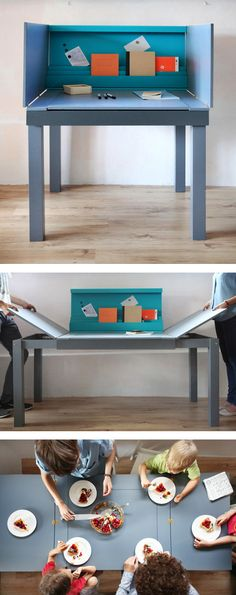 Multi functional workspace/table by talented polish designer Agata Nowak.