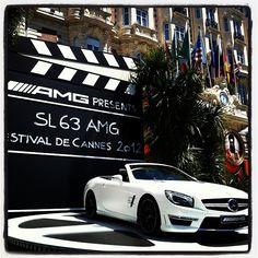 SL 63 AMG #Mercedes at the Carlton #cannes2012