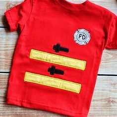 Fireman Applique Set - Planet Applique Inc Embroidery Files, Embroidery Applique, Embroidery Patterns, Applique Designs, Machine Embroidery Designs, Fireman Outfit, One Design, Baby Dolls, Badge